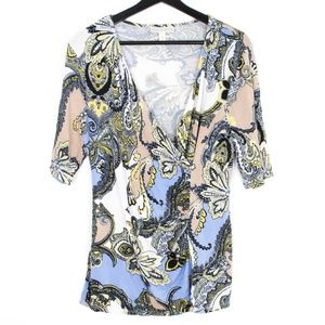 Dana Buchman Tops - Dana Buchman Multi Color Floral Blouse Large AG